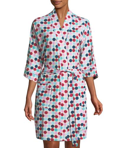 Candy Dot Kimono Robe