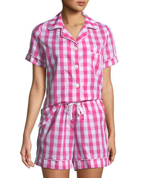 Bedhead Gingham Shorty Pajama Set