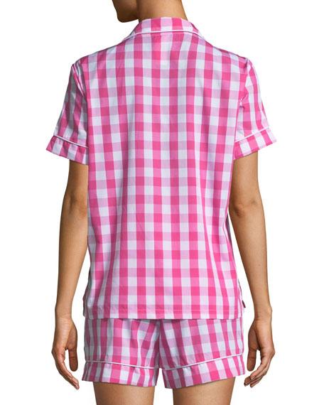 Gingham Shorty Pajama Set, Plus Size