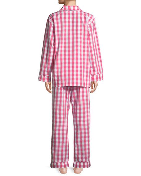 Gingham Classic Long Pajama Set