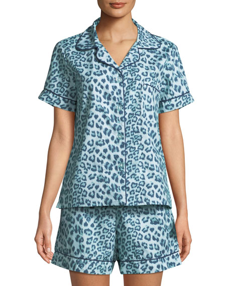 Wild Kingdom Shorty Pajama Set, Plus Size