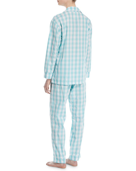Gingham Long Classic Pajama Set
