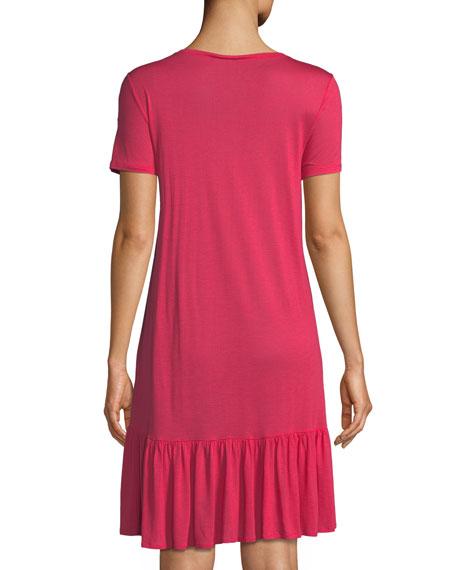 Malva Ruffled-Hem Jersey Nightgown