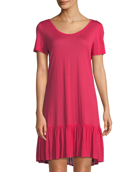 Hanro Malva Ruffled-Hem Jersey Nightgown