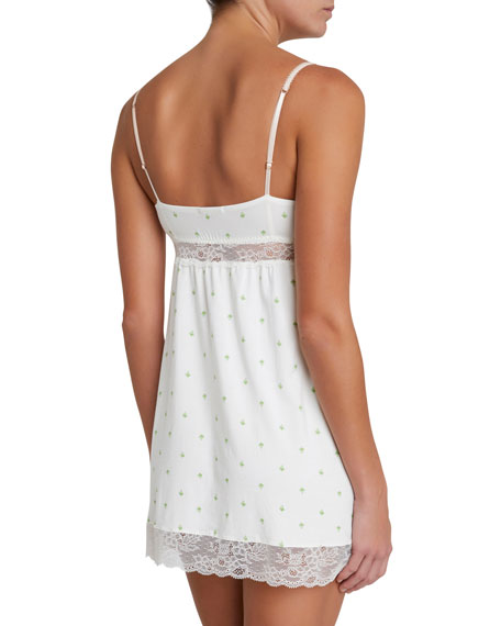 Giving Palm Lace-Inset Chemise