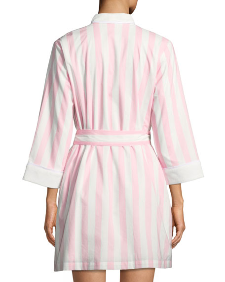 bay striped robe