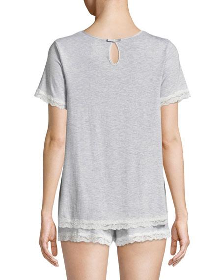 lace-trim short pajama set