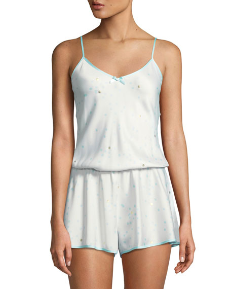 kate spade new york dotted satin bridal romper