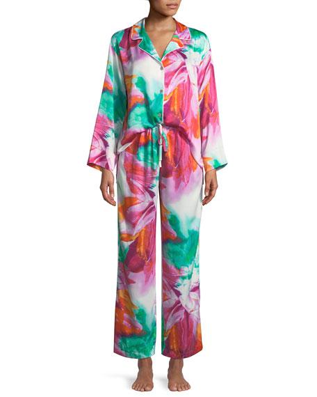 Paraiso Notched-Collar Pajama Set