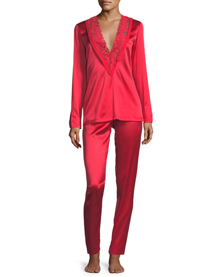 Azalea Stretch-Silk Pajama Set