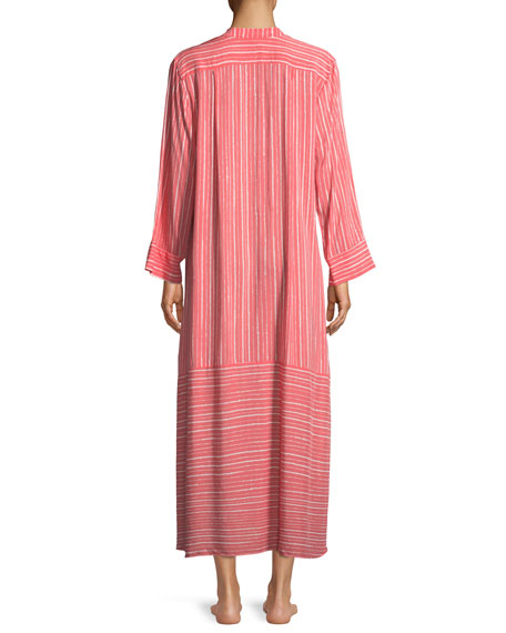 Osaka Striped Long-Sleeve Caftan