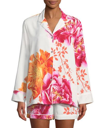 Bali Floral-Print Shorty Pajama Set