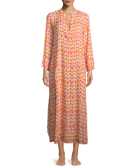 Laos Graphic-Print Caftan