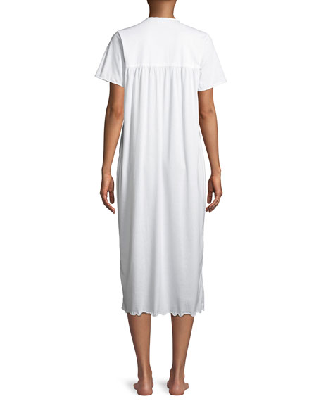 Bouquets Short-Sleeve Long Nightgown