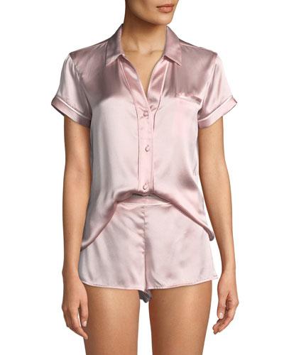 Essential Silk Shorty Pajama Set