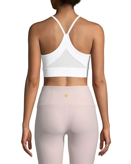 Feliz Mesh-Back Performance Crop Top