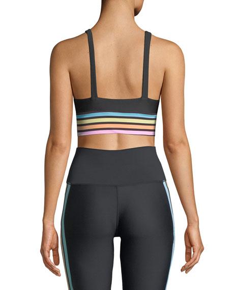 Leah Rainbow-Stripe Sports Bra