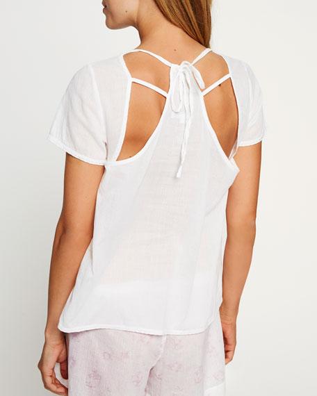 Tie-Back Cotton Lounge Top