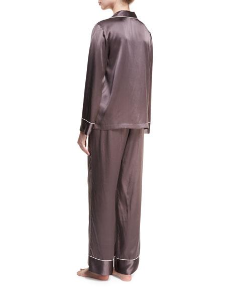 Silk Satin Two-Piece Pajama Set