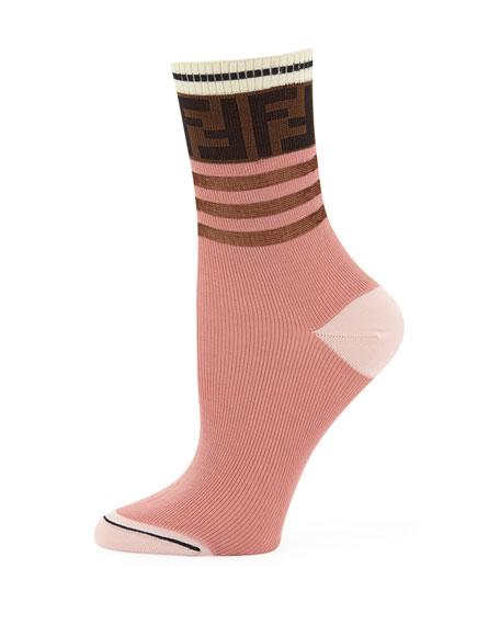 Novelty Striped Cotton Tube Socks