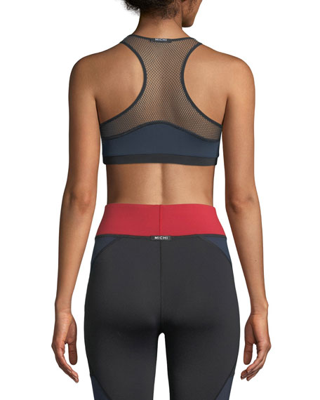Antigravity Printed Mesh Sports Bra