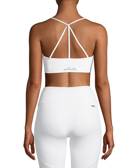 Strappy-Back Low-Impact Barre Sports Bra