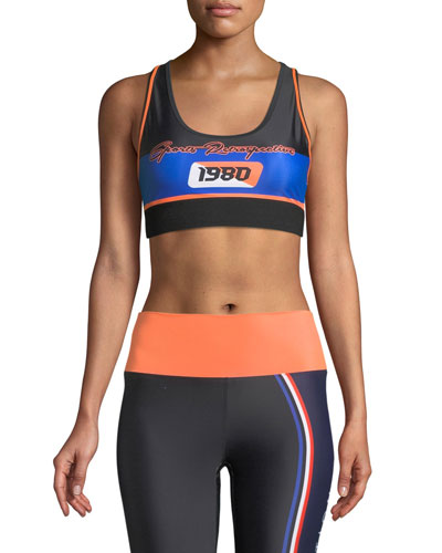 Dodgeball Racerback Sports Bra