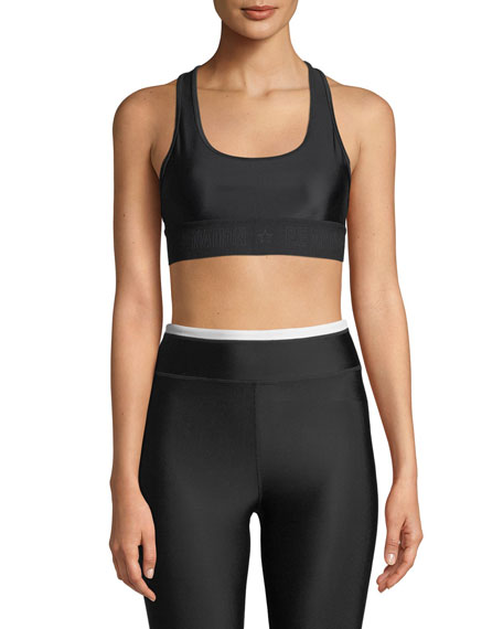 The Vault Racerback Performance Crop Top Bra