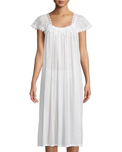 Aphrodite Cap-Sleeve Nightgown