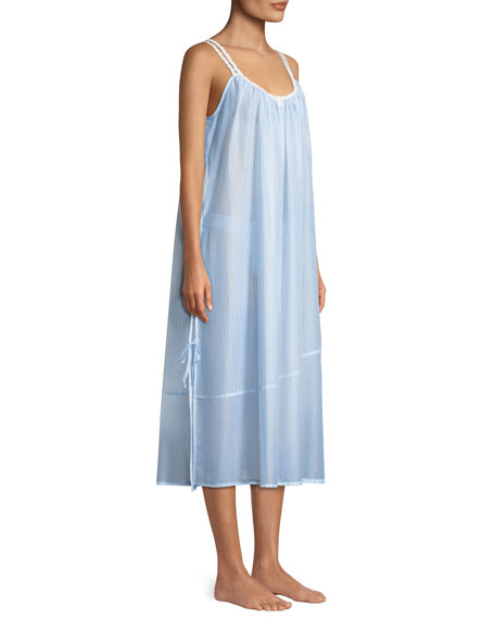 Riviera Double-Strap Sleeveless Nightgown