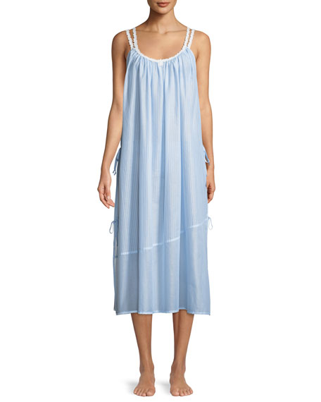 Celestine Riviera Double-Strap Sleeveless Nightgown