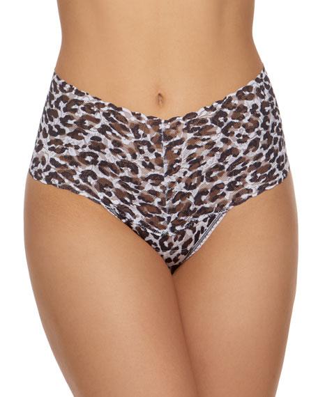 Copycat Leopard Lace Retro Thong