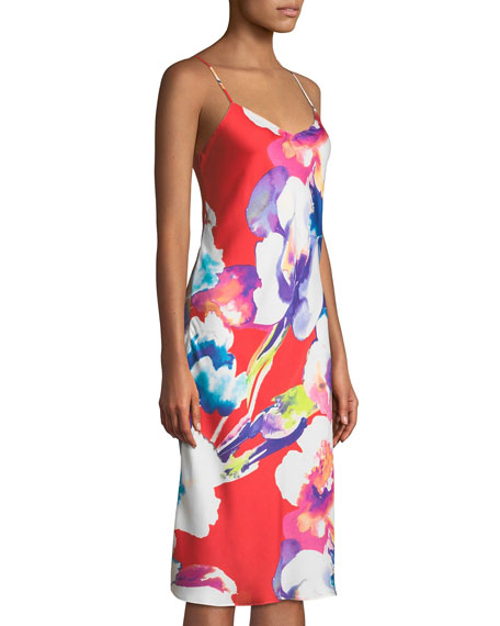 Tahiti Floral-Print Nightgown