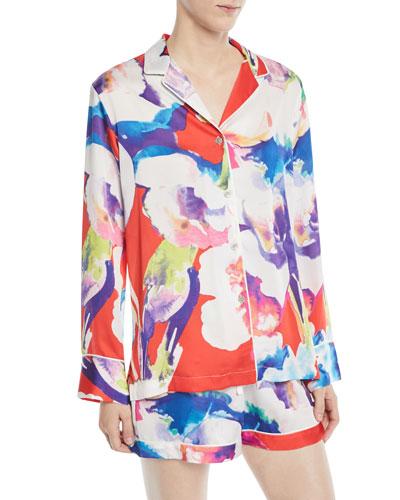 Tahiti Long-Sleeve Shorty Pajama Set