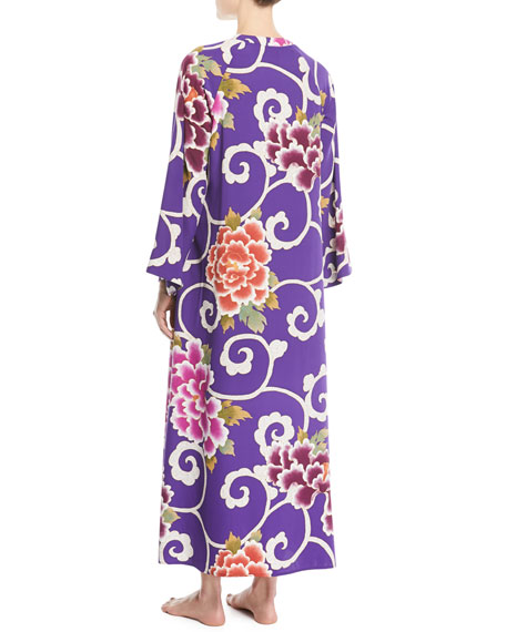 Samarkand Zip-Front Floral Caftan