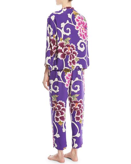 Samarkand Classic Floral Pajama Set