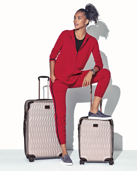 Luxury Cashmere Metallic-Trim Jogger Pants