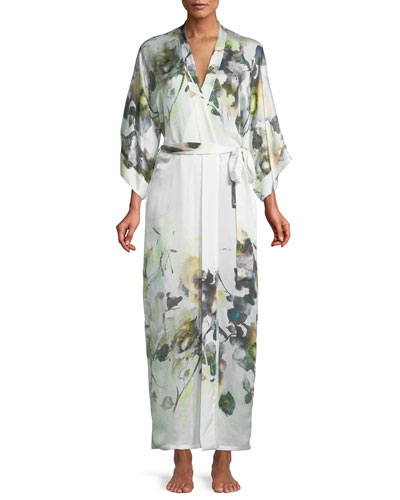 Limelight Long Silk Robe
