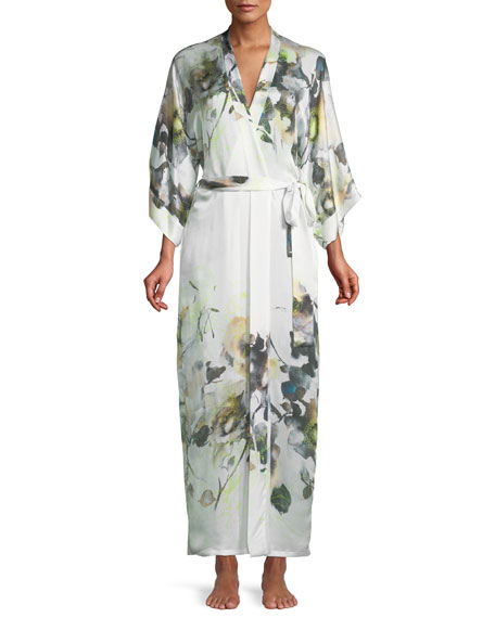 Christine Designs Limelight Long Silk Robe