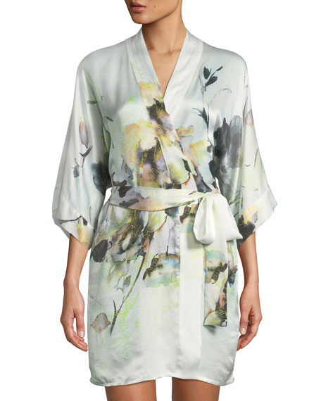 Limelight Short Silk Robe