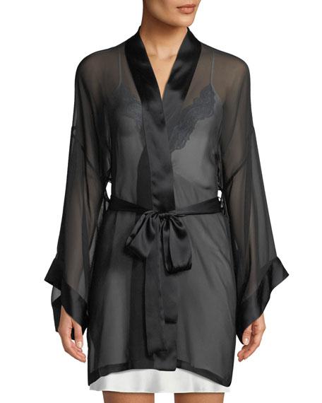 Christine Lingerie Limelight Semisheer Chiffon Robe
