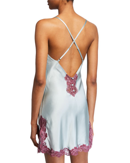 Bijou Button-Back Silk Chemise