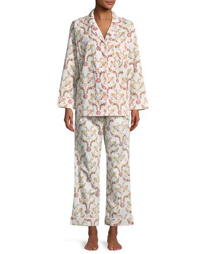 She Sells Seashells Long-Sleeve Classic Pajama Set