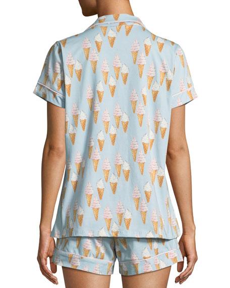 Ice Cream Cone Knit Shortie Pajama Set