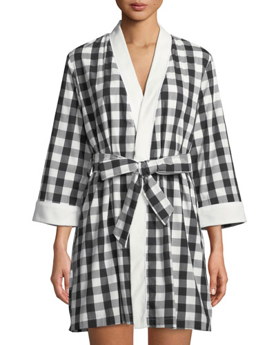 summer check short robe