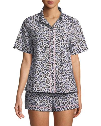 hollyhock short pajama set