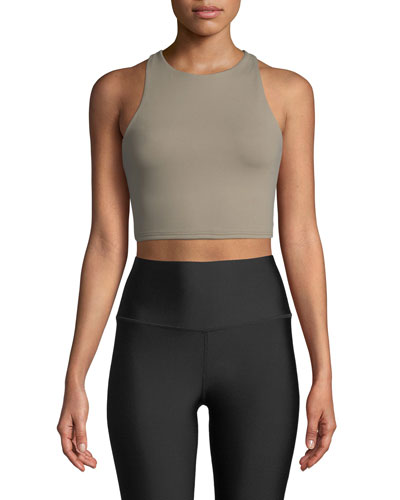 Movement High-Neck Lace-Up Back Performance Sports Bra