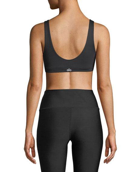 Alo Yoga Ambient Low-Impact Scoop-Neck Sports Bra