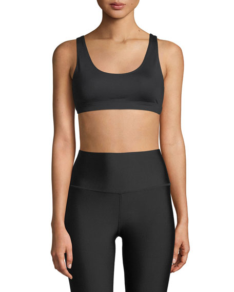 Alo Yoga Ambient Low-Impact Scoop-Neck Sports Bra