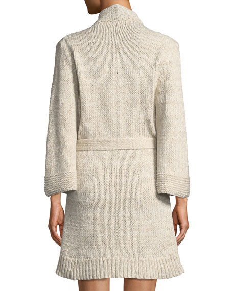 Kadia Organic Cotton Knit Wrap Robe